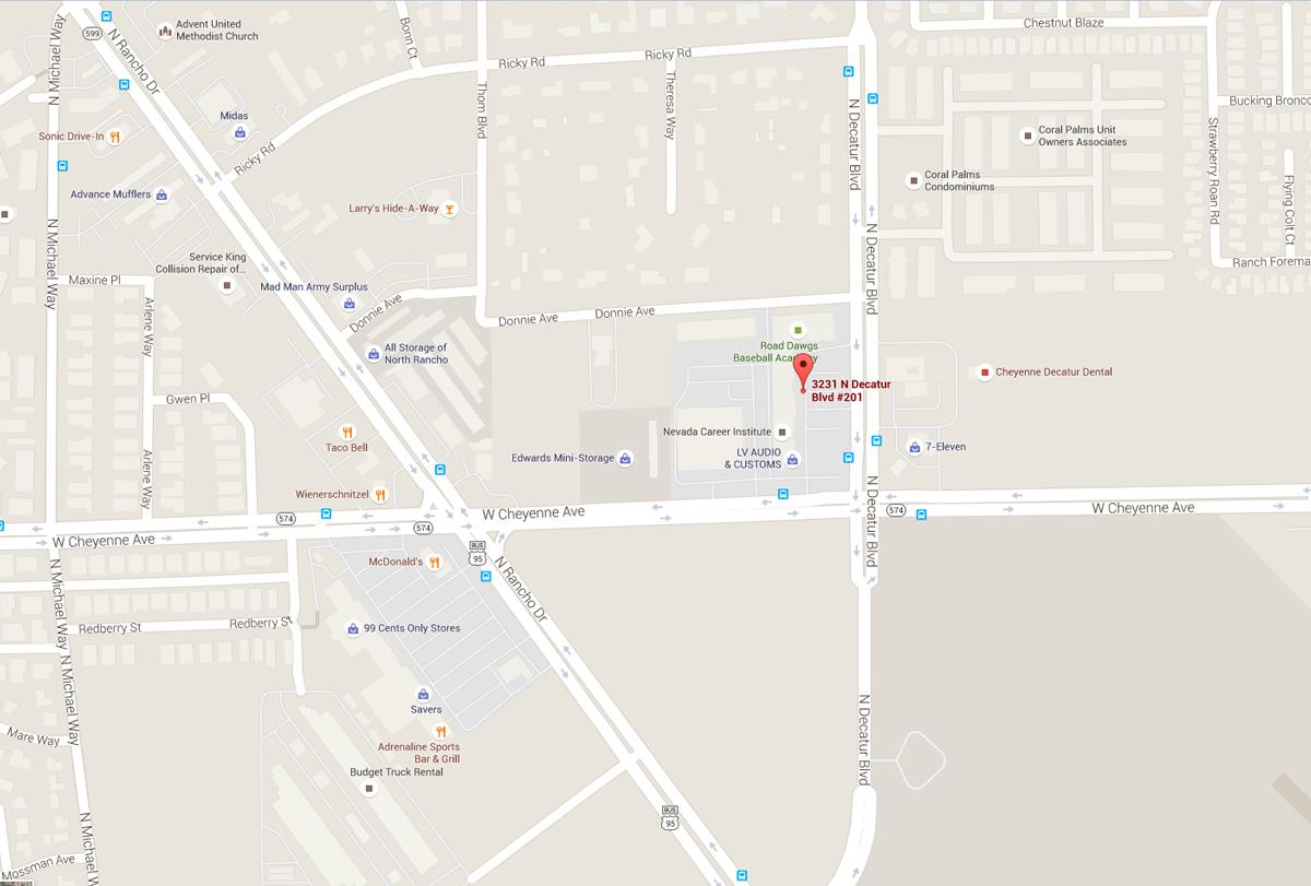 Nevada Career Institute Campus Map